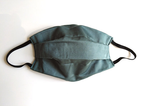 Green Cotton Face Mask, Reusable Washable Filter Pocket Nose Wire