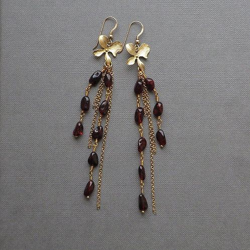 Baltic Amber Bohemian Gold Earrings