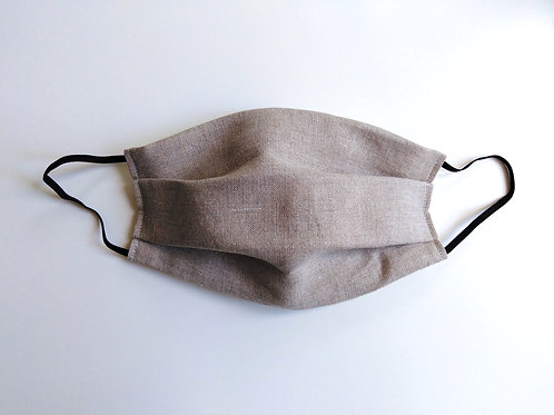 Linen Hemp Cotton Face Mask, Reusable Washable Filter Pocket Nose Wire