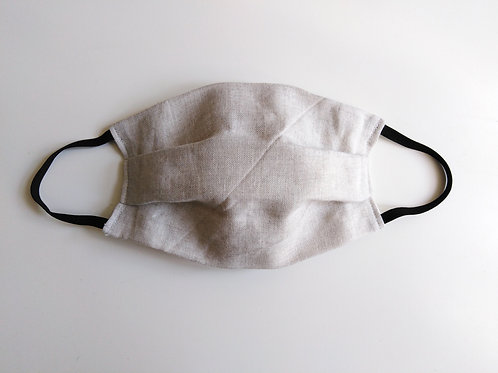 Natural Linen Cotton Face Mask, Reusable Washable Filter Pocket Nose Wire