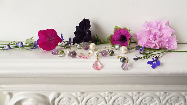 Pink Purple Bridal Wedding Jewellery
