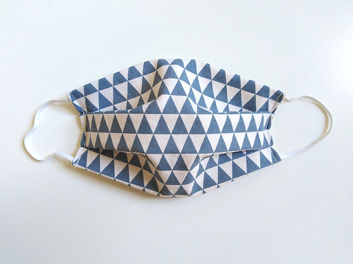 Geometric Triangles Cotton Face Mask, Reusable Filter Pocket Mask, Nose Wire