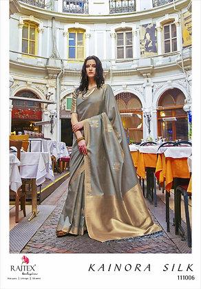 Soft Banarasi silk Saree Grey