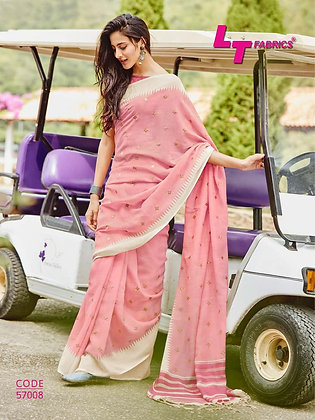 Super Soft Linen silk with Embroidery work