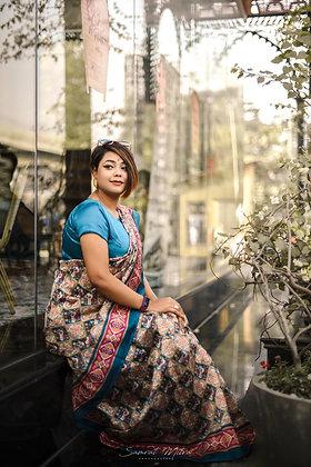 Mysure Silk Cotton saree With Blouse Unstiched