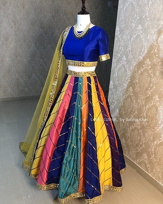Lehenga choli in heavy taffeta silk. Quality is worth paying