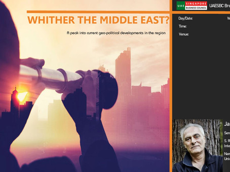 Quarterly Talk, 17 Feb: Whither the Middle East?