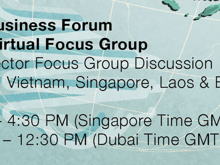 Global Business Forum ASEAN Focus Group, 3 March