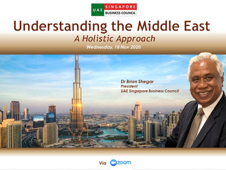 Quarterly Talk, 18 Nov: Understanding the Middle East - A Holistic Approach