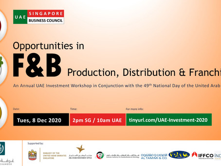 UAE Investment Workshop 2020: Opportunities in F&B Production, Distribution & Franchising, 8 Dec