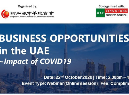 Business Opportunities in the UAE: Impact of COVID19, 22 Oct