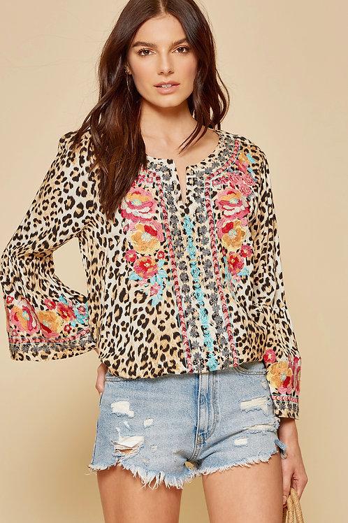 Savanna Jane Leopard Tunic Top
