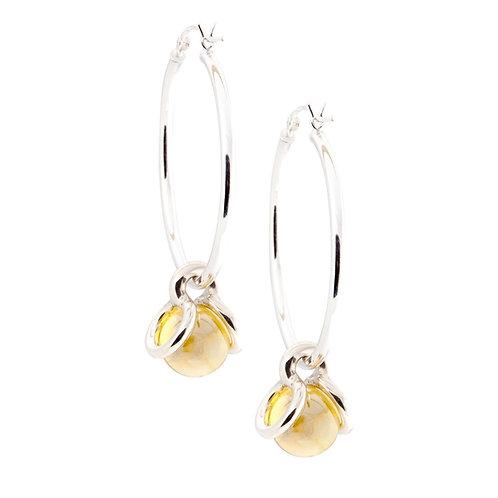 Interchangeable Sterling Silver Hoop Earrings