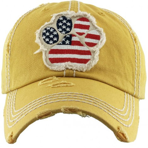 Paw Flag Vintage Washed Ball Cap
