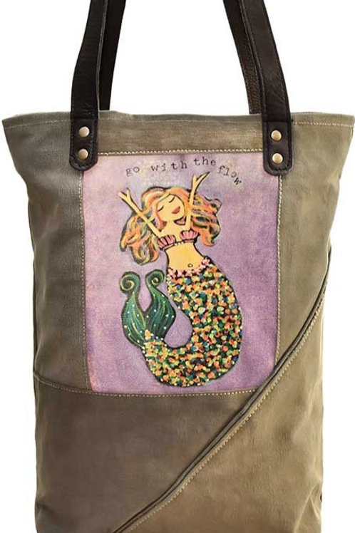 Mermaid Recycled Military Tent Tote