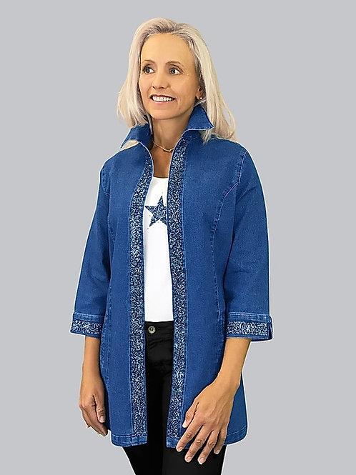 Crystal Banding Denim Jacket