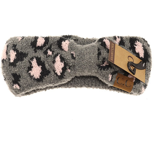 Leopard Boucle Knit Head Wrap