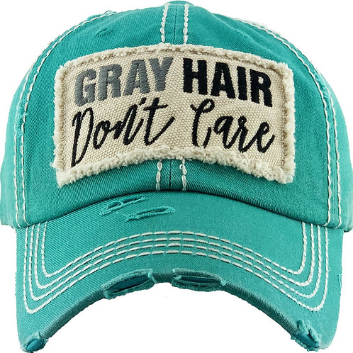 Gray Hair Don't Care Vintage Wash Ball Cap