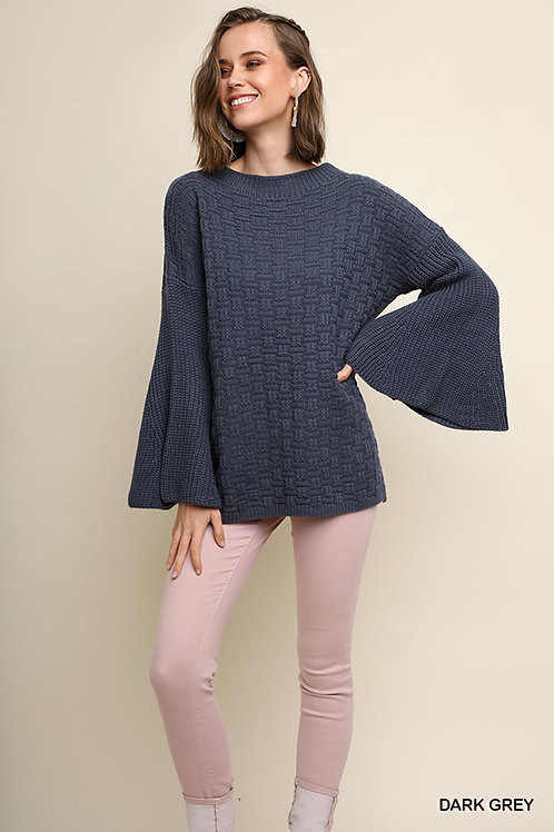 Bell Of The Ball - Bell Sleeve Sweater