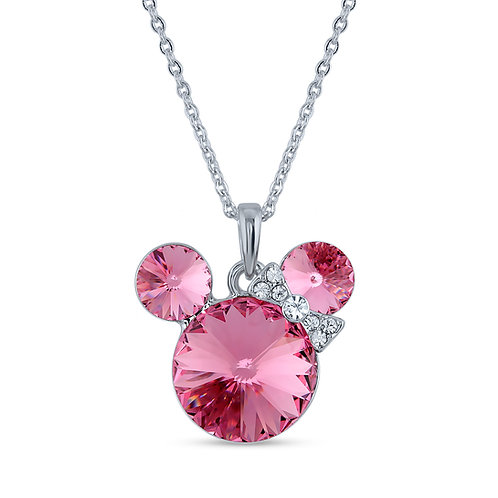 Swarovski Crystal Necklace - Rose