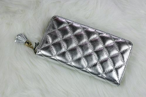 Metallic Silver Wallet