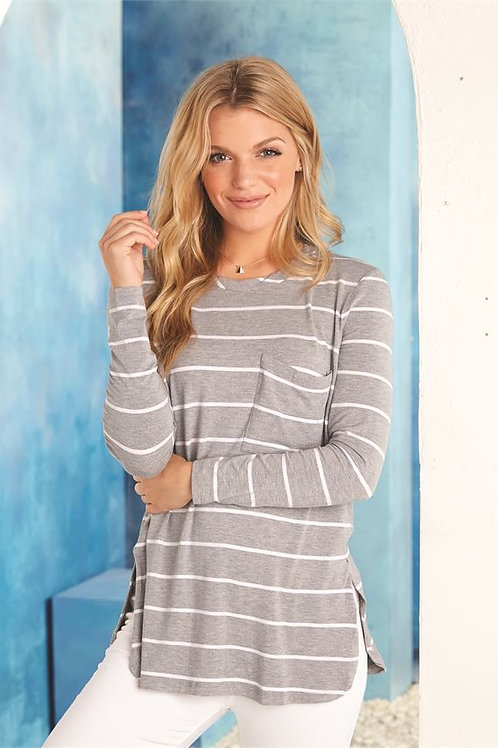 Stripe Long Sleeve Jersey Top