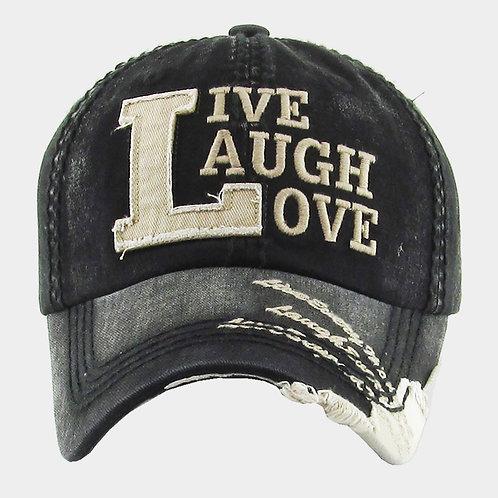 LIVE LAUGH LOVE Vintage Baseball Cap