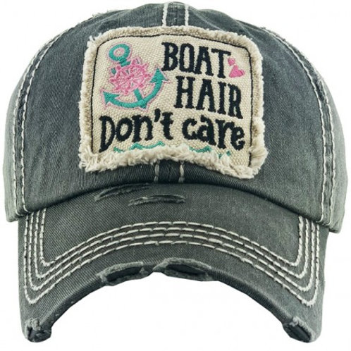 """""""Boat Hair Don't Care"""" Vintage Ball Cap"""