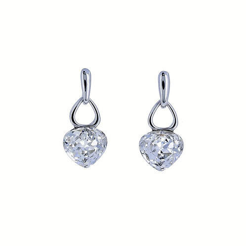 Swarovski Crystal Heart Post Earrings