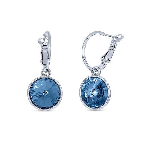 Dangle Earrings with Rivoli Cut Swarovski Crystals