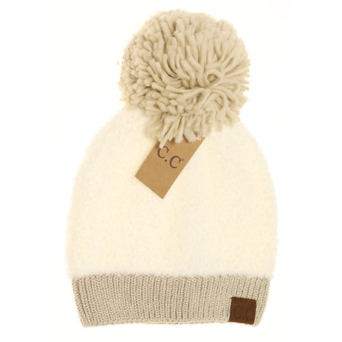 Color Block Sherpa Beanie