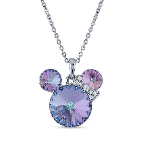Swarovski Crystal Necklace - Purple