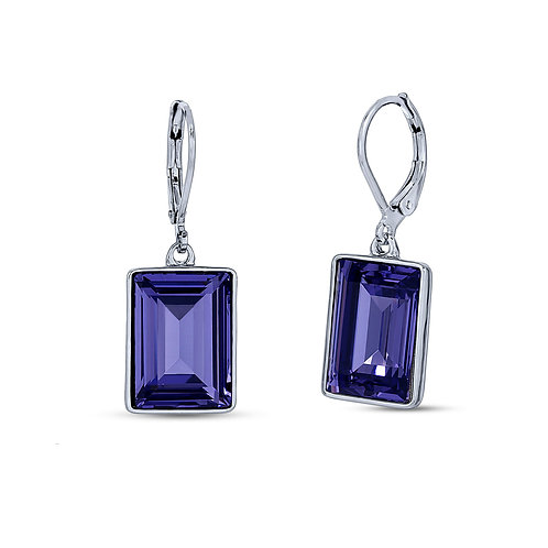 Step Cut - Earrings Made With Swarovski Crystals