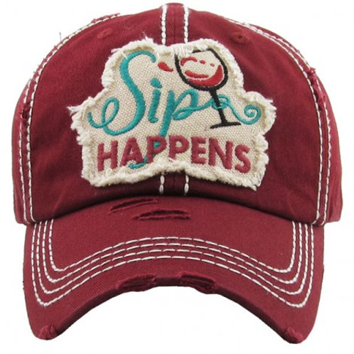 Sip Happens Baseball Cap