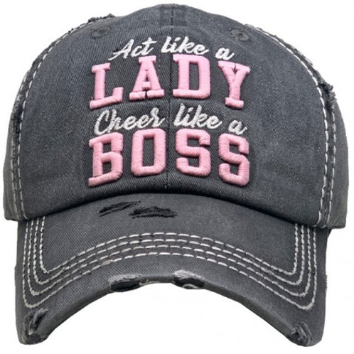 """LADY BOSS"" Vintage Ball Cap"