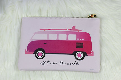 """""""Off To See The World"""" Makeup Bag"""