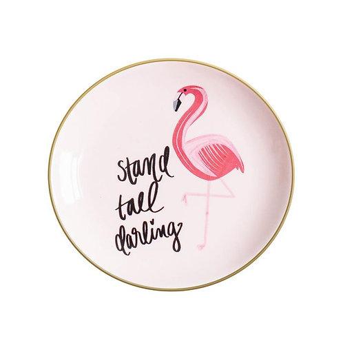 Flamingo Stand Tall Darling Jewelry Dish