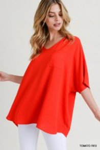 Oversized Red Top