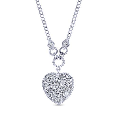 Swarovski Crystal Pave Heart Necklace