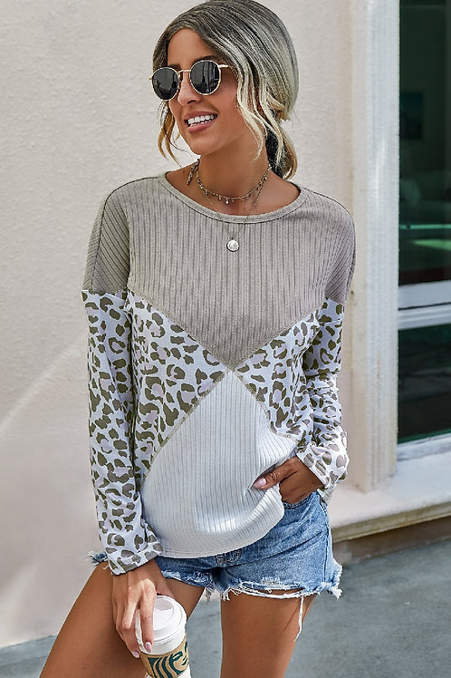 Crew Neck Long Sleeve Loose Fit Top