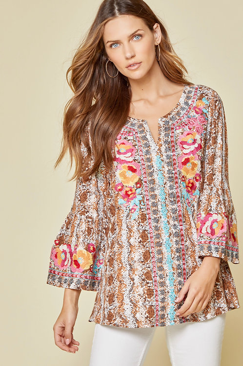 Savanna Jane Snake Pattern Top