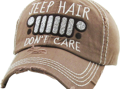 Jeep Hair Don't Care Baseball Cap