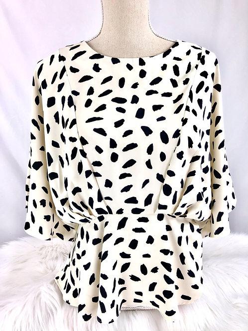 Dalmatian Print Blouse