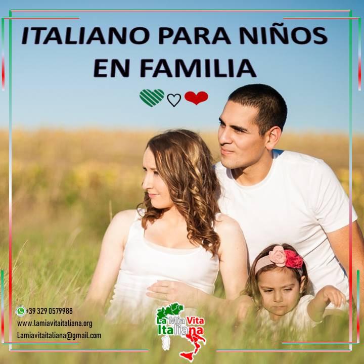 Aprende Italiano en familia.