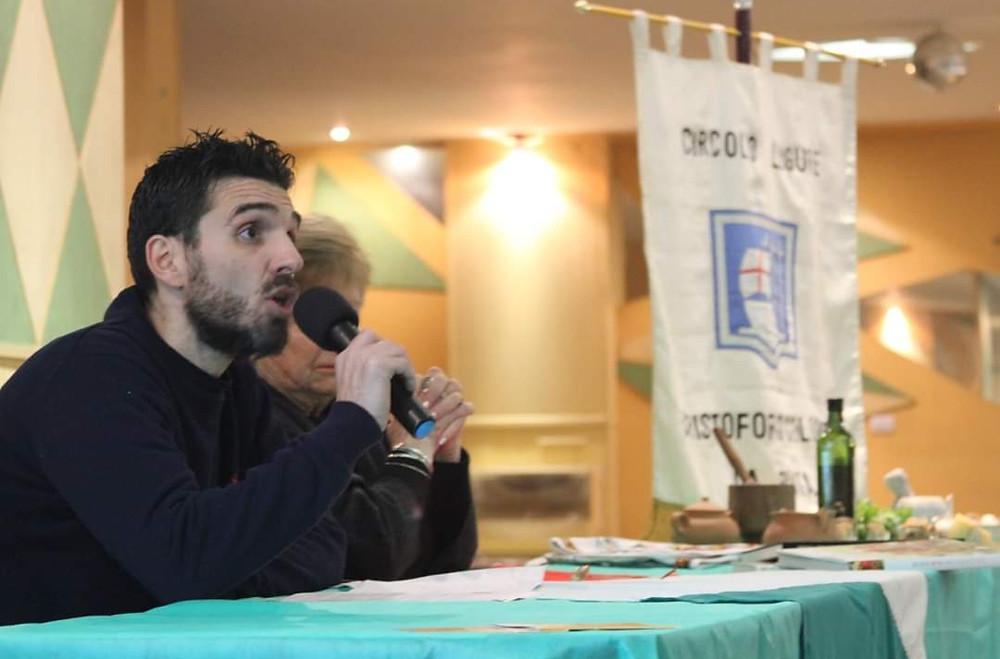 Maurico activo en el Círculo Ligure de La Plata, proyectos e incesantes iniciativas lo acompañan en todo lo que hace.