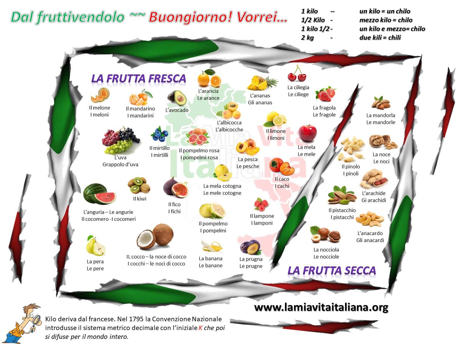dal fruttivendolo - frutta fresca frutta