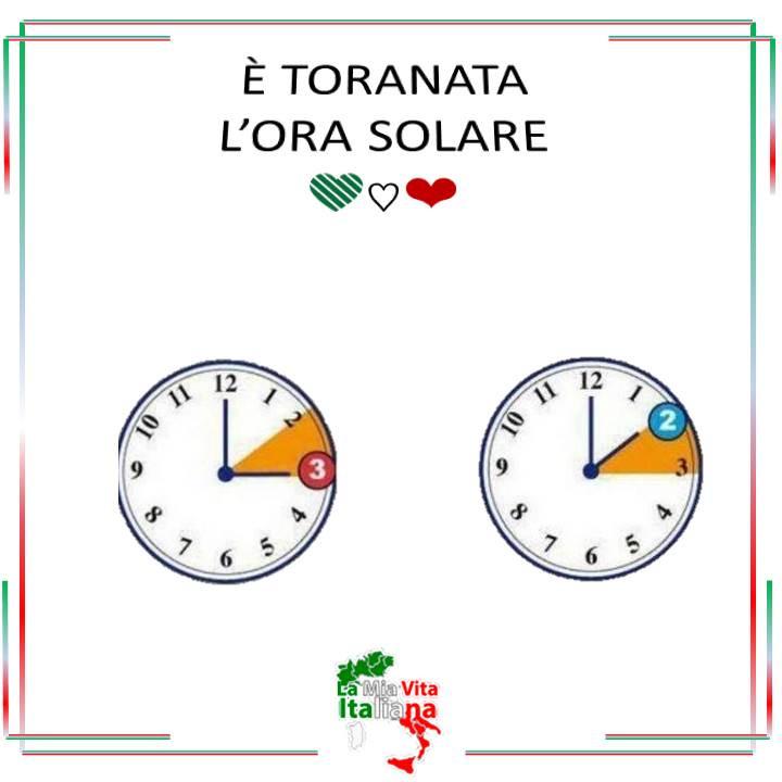 Hora solar en Italia quizás por última vez.