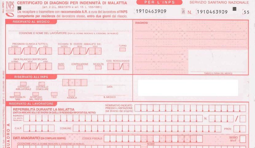 Certificado de salud para ausentarse del trabajo por enfermedad