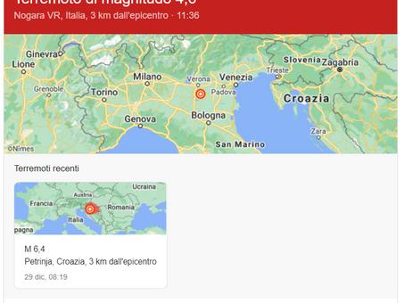 Il nord d'Italia trema - Scossa di terremoto