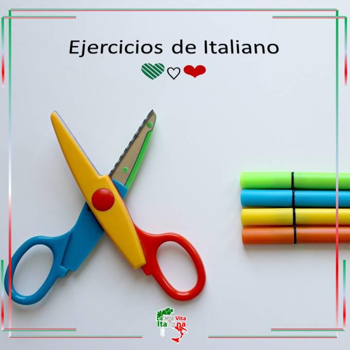 Haz ejercicios en Italiano toda la semana